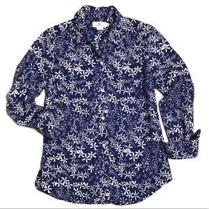 Vineyard Vines Navy & White Button Down Shirt